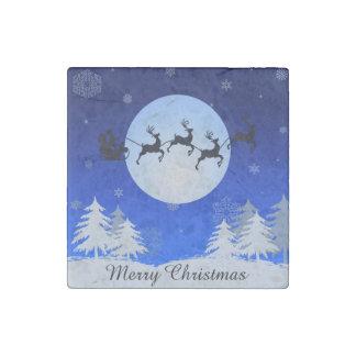 Merry Christmas Stone Magnet