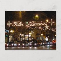 Merry Christmas. Street Princess, Madrid Holiday Postcard