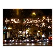 Merry Christmas. Street Princess, Madrid Postcard