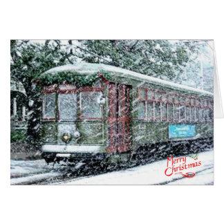Merry Christmas Streetcar Card