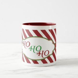 Merry Christmas Stripe ho ho ho mug - red inside