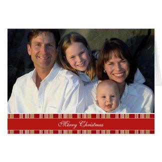 Merry Christmas Stripes Family Photo Card