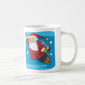 Merry Christmas Super Santa Classic White Coffee Mug