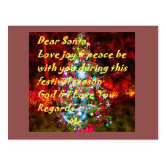 Merry Christmas Sweet Love Gifts Graphic Text Art Postcard