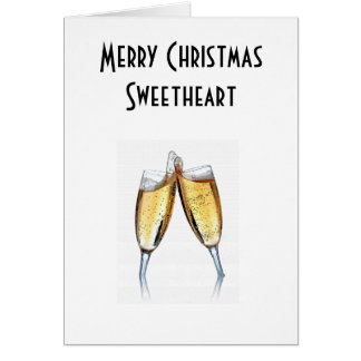 MERRY CHRISTMAS SWEETHEART GREETING CARDS