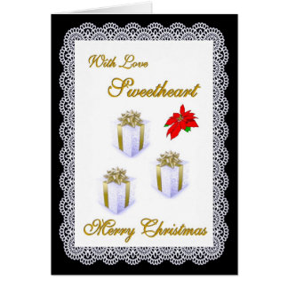 Merry Christmas / Sweetheart Greeting Card
