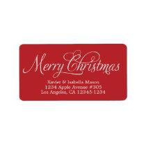 Merry Christmas Swirly Script Label