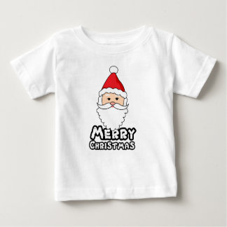 Merry christmas t shirt with santa claus face