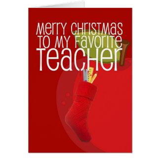 Merry Christmas Teacher Cards