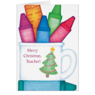 Merry Christmas, Teacher Card