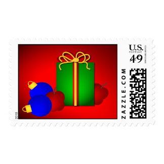 Merry Christmas Teacher Postage Stamps