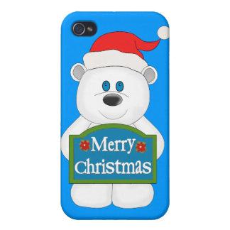 Merry Christmas Teddy Bear Cartoon iPhone 4/4S Covers