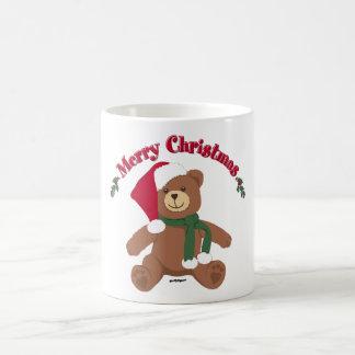 Merry Christmas Teddy Bear Coffee Mug