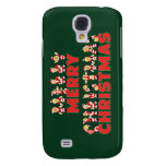 Merry Christmas Teddy Bear Santa Claus Letters Galaxy S4 Cover