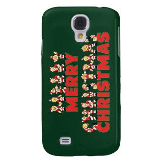 Merry Christmas Teddy Bear Santa Claus Letters Galaxy S4 Cases