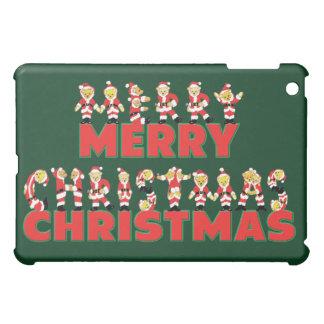 Merry Christmas Teddy Bear Santa Claus Letters iPad Mini Cases