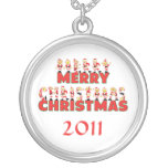 Merry Christmas Teddy Bear Santa Claus Letters Jewelry