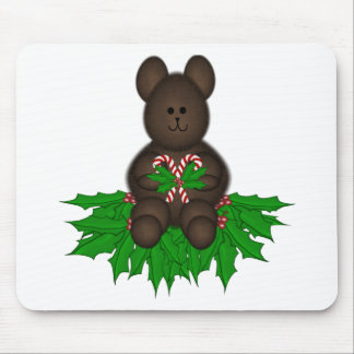 Merry Christmas Teddy Mouse Pad