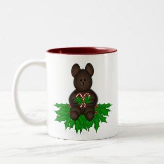 Merry Christmas Teddy mug