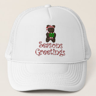 Merry Christmas Teddy Trucker Hat