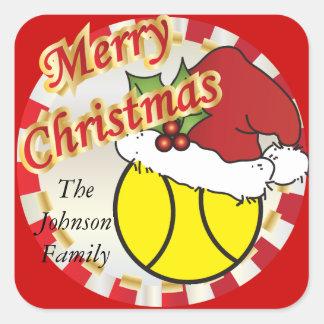 Merry Christmas Tennis Ball | DIY Text Square Sticker