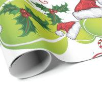 Merry Christmas Tennis Ball   Santa Wrapping Paper