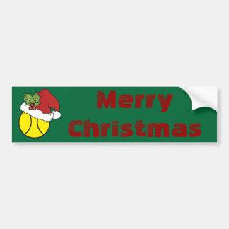 Merry Christmas Tennis Car Bumper Sticker