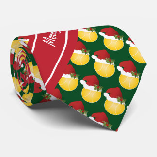 Merry Christmas Tennis Neck Tie