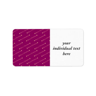 merry christmas,text,bordeaux personalized address label