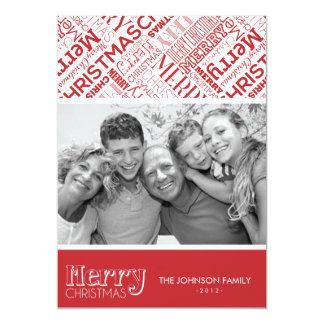 Merry Christmas Text Design 5x7 Flat Card