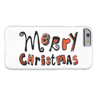 Merry Christmas - Text Design Barely There iPhone 6 Case