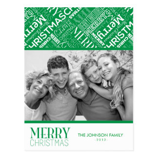 Merry Christmas Text Design Photo Card
