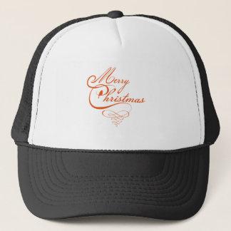 Merry Christmas text design, word art with bird Trucker Hat