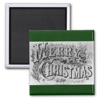 Merry Christmas Text Magnet