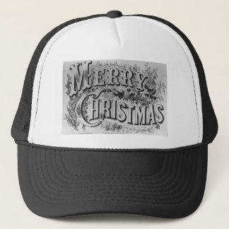 Merry Christmas Text Trucker Hat