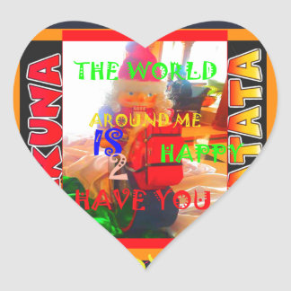 Merry Christmas The world around me is happy to ha Heart Sticker