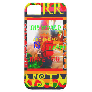 Merry Christmas The world around me is happy to ha iPhone SE/5/5s Case