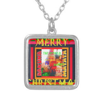 Merry Christmas The world around me is happy to ha Silver Plated Necklace