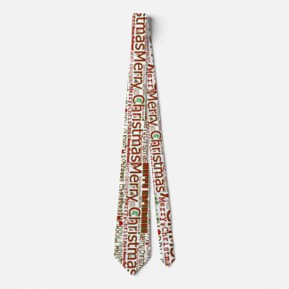 Merry Christmas Tie - Double-Sided/Larger Design