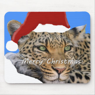 Merry Christmas Tiger. Mouse Pad