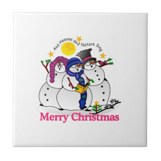 Merry Christmas Small Square Tile