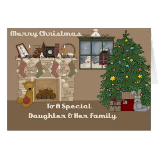 Merry Christmas To A Special Daughter & Family Card