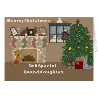 Merry Christmas To A Special Granddaughter Card