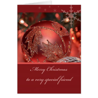 Merry Christmas to a very Special Friend Greeting Card