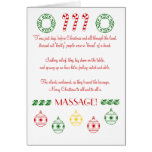 Merry Christmas to All and to All a MASSAGE! Cards