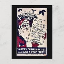 Merry Christmas To All Holiday Postcard