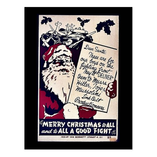 Merry Christmas To All Postcard
