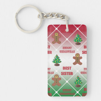 Merry Christmas to best sister Keychain
