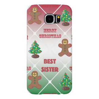 Merry Christmas to best sister Samsung Galaxy S6 Case