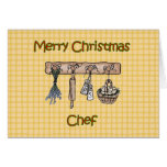 Merry Christmas to chef country kitchen utensils Greeting Cards